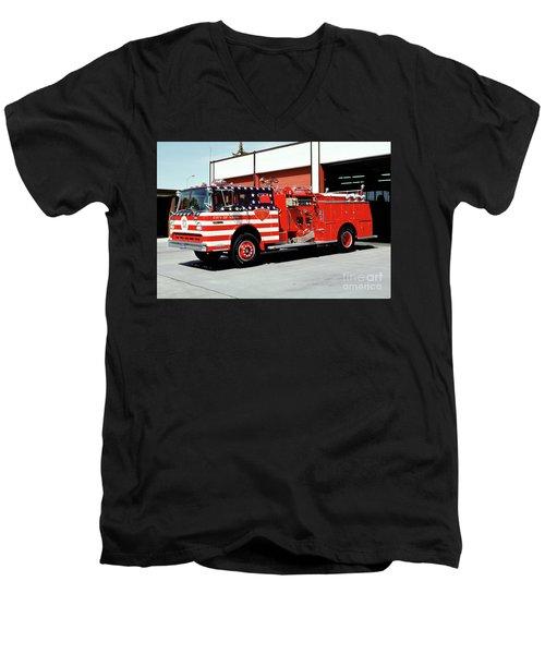 City Of Napa Van Pelt Engine 3 Men's V-Neck T-Shirt