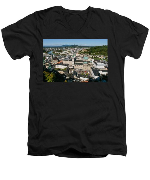 City Of Salzburg Men's V-Neck T-Shirt by Silvia Bruno