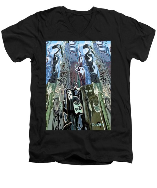 City Towers Men's V-Neck T-Shirt by Alika Kumar