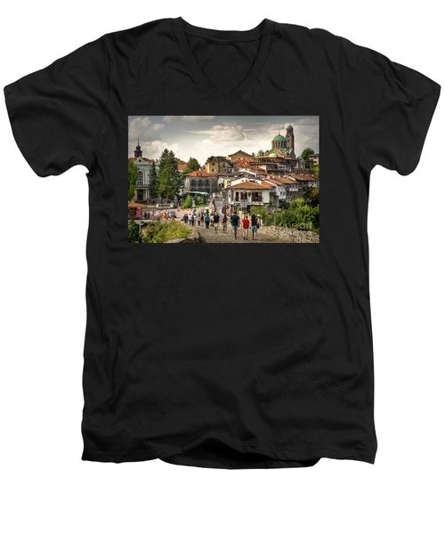 City - Veliko Tarnovo Bulgaria Europe Men's V-Neck T-Shirt