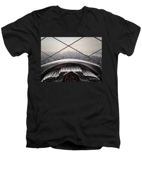 Men's V-Neck T-Shirt featuring the photograph City View by MGL Meiklejohn Graphics Licensing