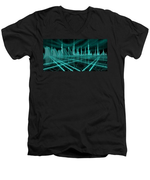 Cityscape 2010 Alpha Men's V-Neck T-Shirt