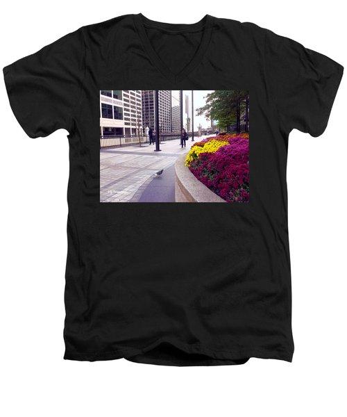 Civilization And Birds Men's V-Neck T-Shirt