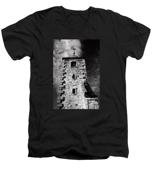 Clackmannan Tollbooth Tower Men's V-Neck T-Shirt by Jeremy Lavender Photography