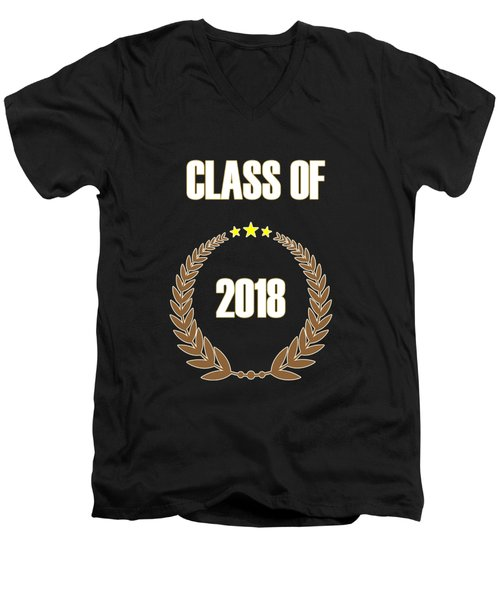 Class Of 2018 Men's V-Neck T-Shirt