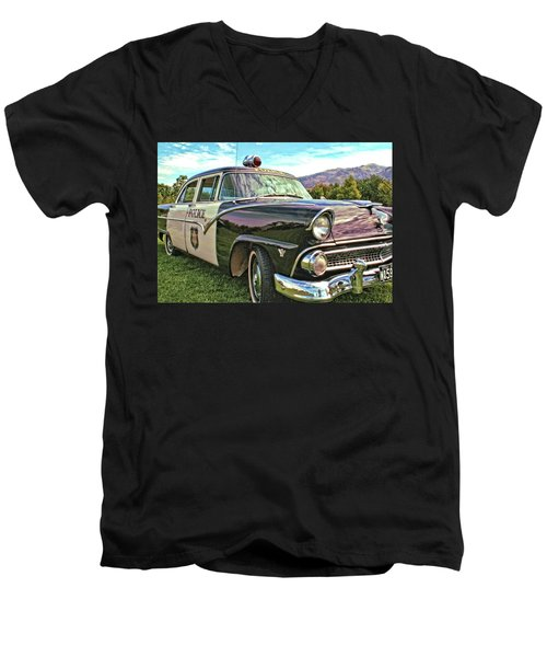 Classic Cop Car Men's V-Neck T-Shirt
