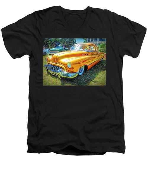 Classic Fifties Buick - Cruising The Coast Men's V-Neck T-Shirt