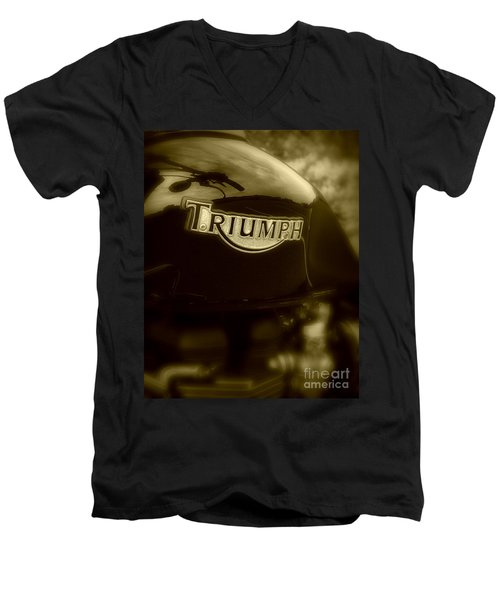 Classic Old Triumph Men's V-Neck T-Shirt
