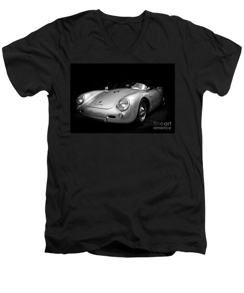 Classic Porsche Men's V-Neck T-Shirt by Perry Webster