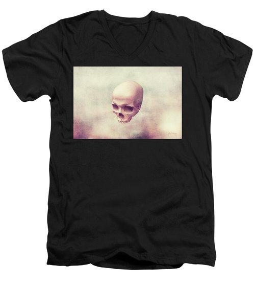 Men's V-Neck T-Shirt featuring the digital art Classical Levity by Joseph Westrupp