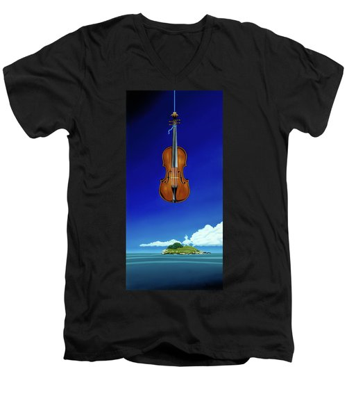 Classical Seascape Men's V-Neck T-Shirt
