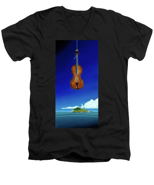 Classical Seascape Men's V-Neck T-Shirt