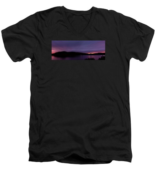 Clatteringshaws After Sunset. Men's V-Neck T-Shirt