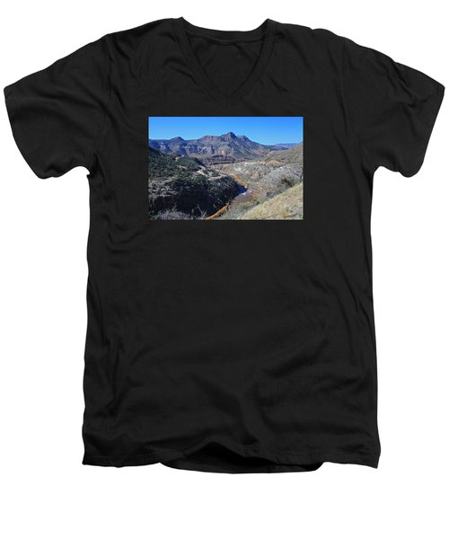 Men's V-Neck T-Shirt featuring the photograph Clear And Rugged by Gary Kaylor