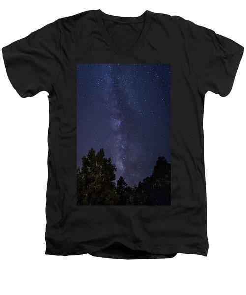 Clear Night In Ruidoso Men's V-Neck T-Shirt