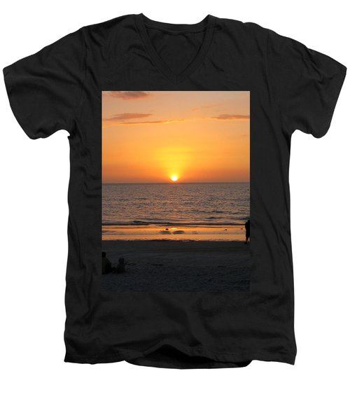 Clear Sunset Men's V-Neck T-Shirt