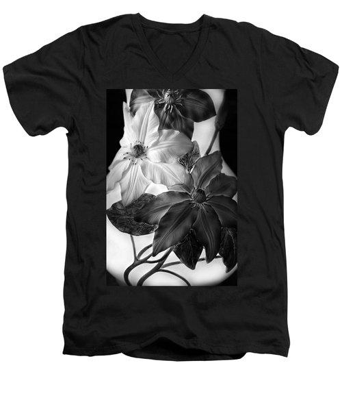 Clematis Overlay Men's V-Neck T-Shirt