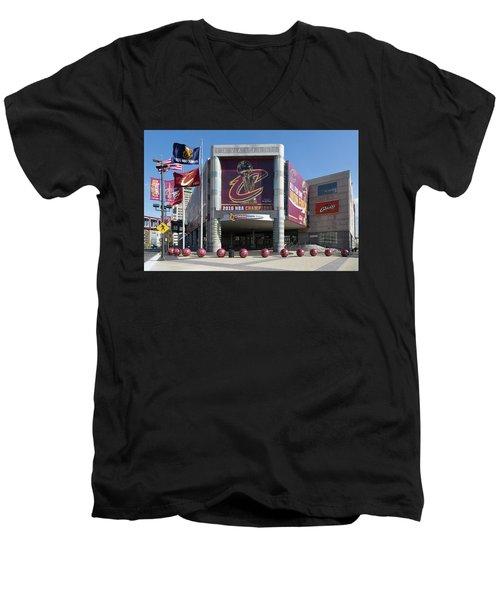 Cleveland Cavaliers The Q Men's V-Neck T-Shirt