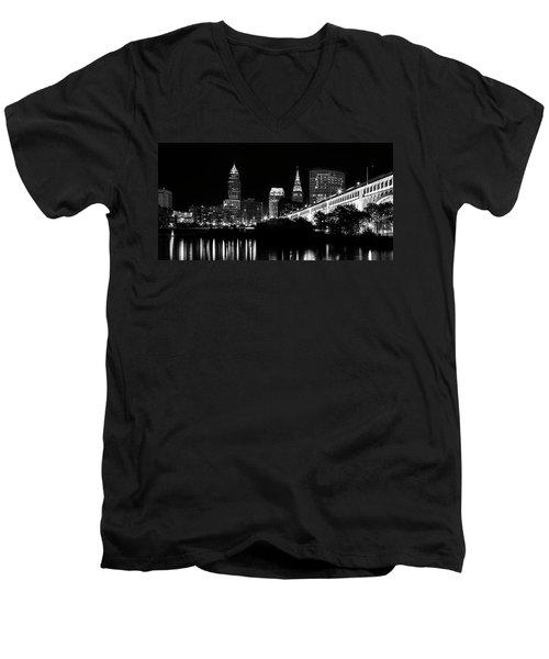Cleveland Skyline Men's V-Neck T-Shirt