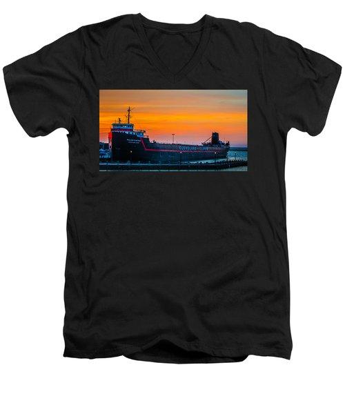 Cleveland Sunset Men's V-Neck T-Shirt