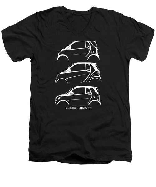 Clever Coupe Silhouettehistory Men's V-Neck T-Shirt