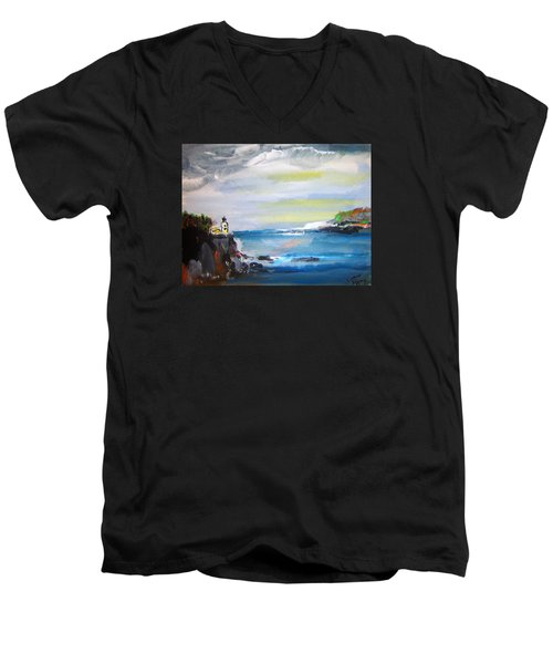 Cliffs By Colleen Ranney Men's V-Neck T-Shirt
