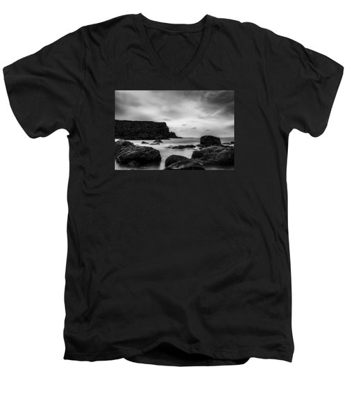 Cliffs Near Causeway Men's V-Neck T-Shirt