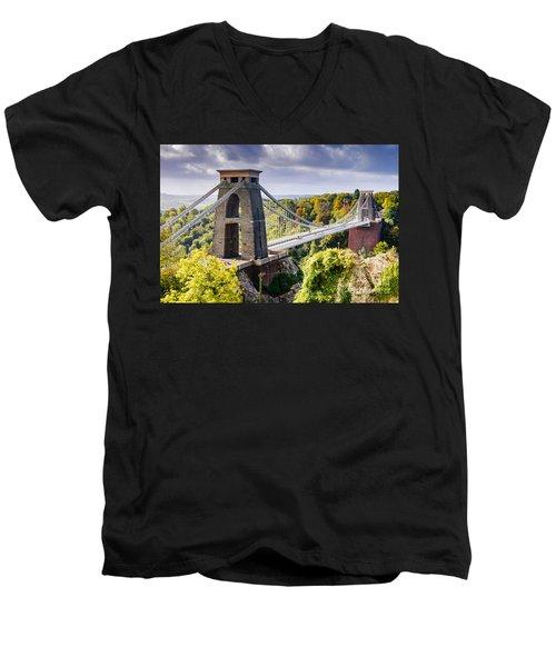 Clifton Suspension Bridge Men's V-Neck T-Shirt