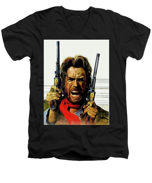 Clint Eastwood As Josey Wales Men's V-Neck T-Shirt