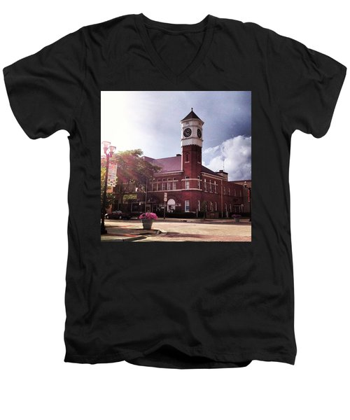 Clocktower Sunshine Men's V-Neck T-Shirt