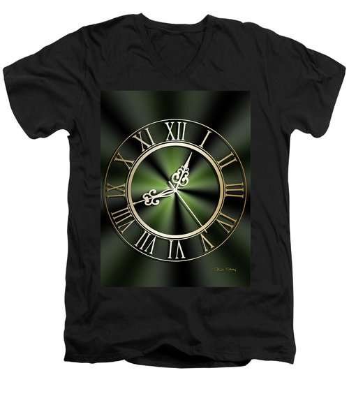 Clockwork Emerald Men's V-Neck T-Shirt