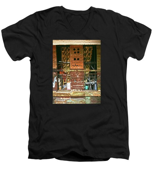 Men's V-Neck T-Shirt featuring the photograph Closed Up by Anne Kotan