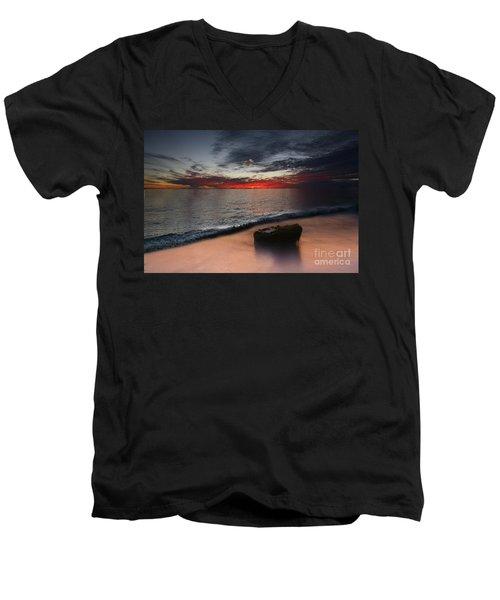 Cloud Choir Men's V-Neck T-Shirt by Kym Clarke