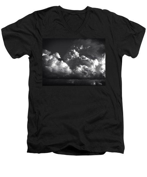 Cloud Power Over The Lake Men's V-Neck T-Shirt