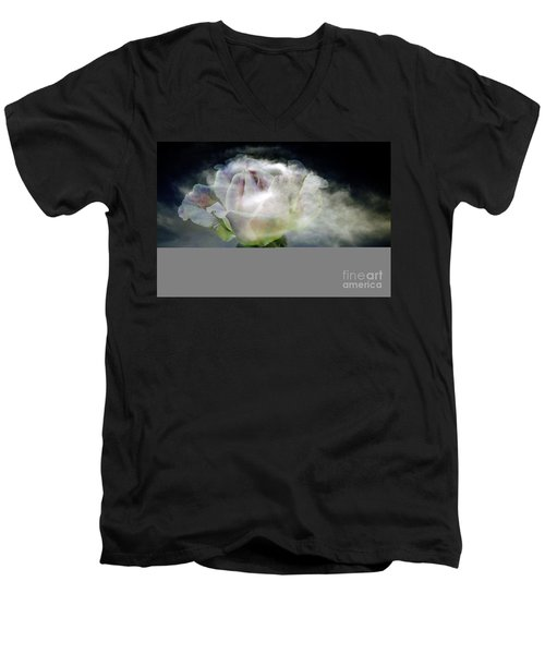 Cloud Rose Men's V-Neck T-Shirt