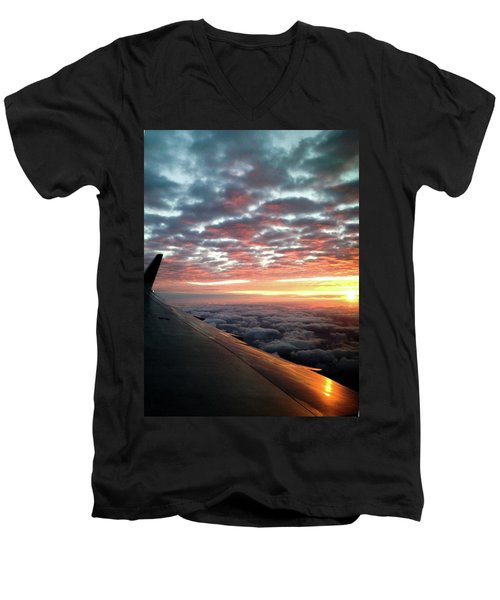 Cloud Sunrise Men's V-Neck T-Shirt