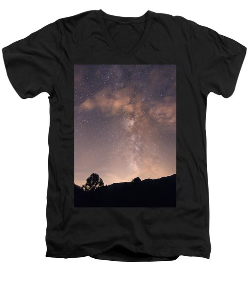 Clouds And Milky Way Men's V-Neck T-Shirt
