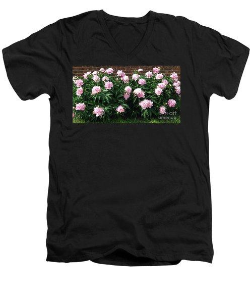 Clouds Of Peony Men's V-Neck T-Shirt
