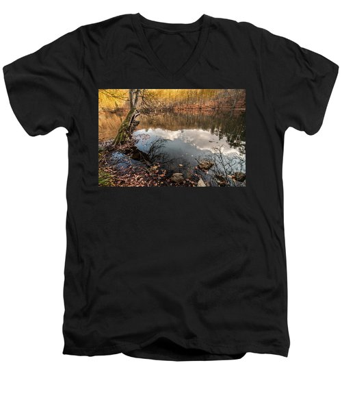 Clouds On The Lake Men's V-Neck T-Shirt