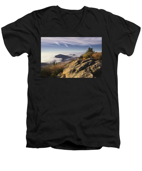Clouds Over Grandmother Mountain Men's V-Neck T-Shirt