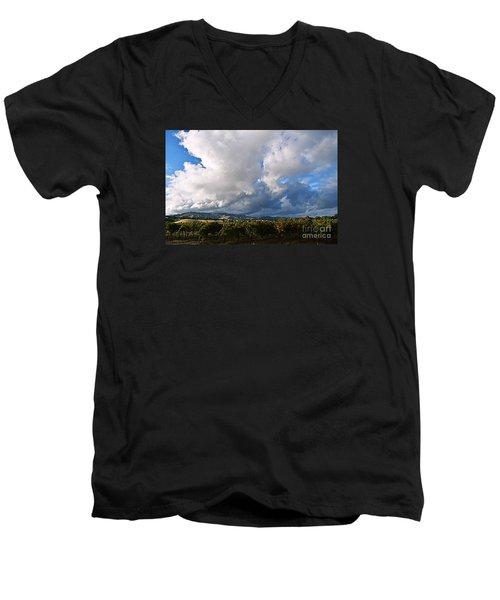 Clouds Over Napa County Men's V-Neck T-Shirt