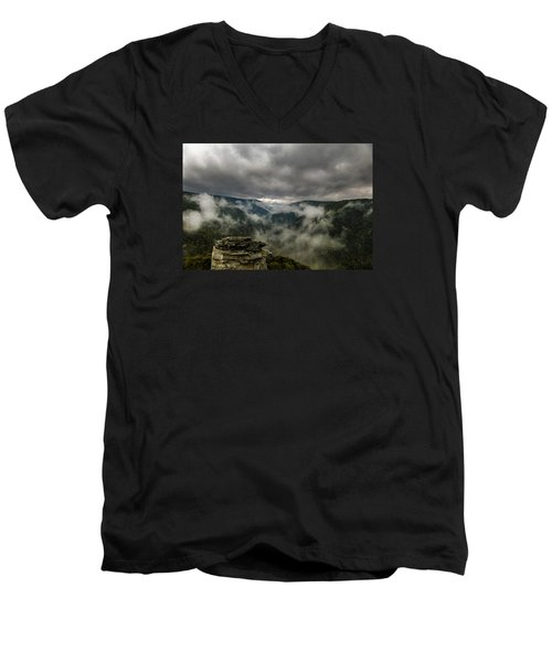 Clouds Rising At Lindy Point Men's V-Neck T-Shirt