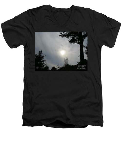 Cloudy Sun Men's V-Neck T-Shirt
