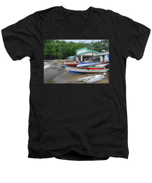 Men's V-Neck T-Shirt featuring the photograph Coast Line by Gary Wonning