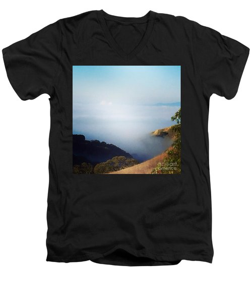 Coastal Fog Men's V-Neck T-Shirt
