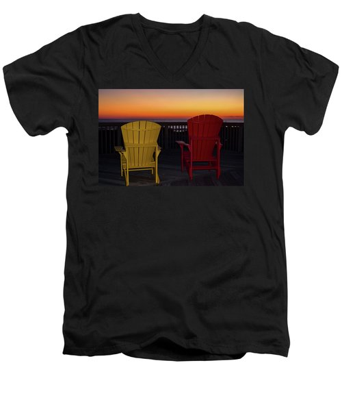 Coastal Mornings Men's V-Neck T-Shirt