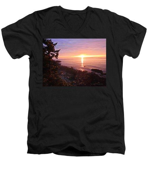 Coastal Sunrise Men's V-Neck T-Shirt