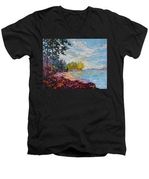 Coastal View Men's V-Neck T-Shirt