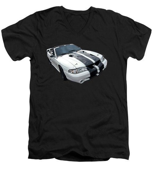 Cobra Mustang Convertible Men's V-Neck T-Shirt by Gill Billington