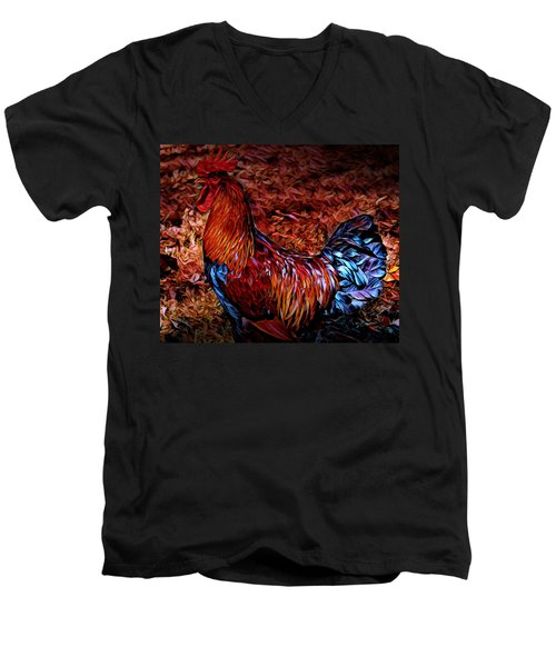 Cock Rooster Men's V-Neck T-Shirt